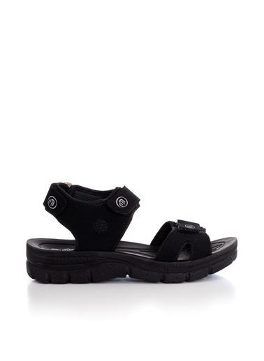 Tonny Black Siyah Süet Unısex Sandalet Terlik 98058  Siyah